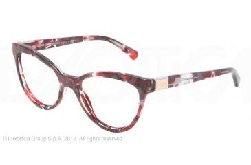Dolce&Gabbana LOGO PLAQUE DG3169 Eyeglass Frames 2733-51 - Red Marble Frame