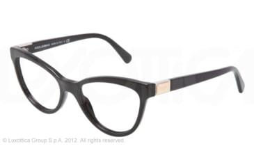 Dolce&Gabbana LOGO PLAQUE DG3169 Eyeglass Frames 501-51 - Black Frame