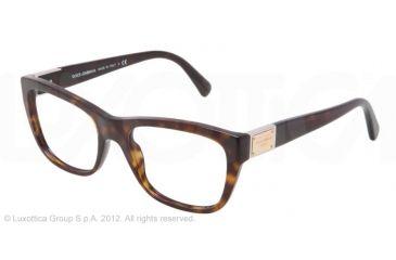 Dolce&Gabbana LOGO PLAQUE DG3171 Eyeglass Frames 502-52 - Havana Frame