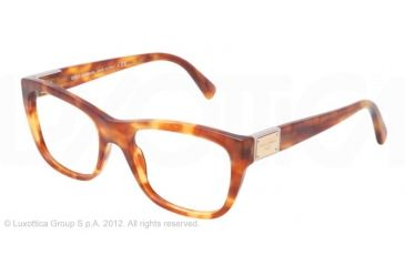 Dolce&Gabbana LOGO PLAQUE DG3171 Eyeglass Frames 706-52 - Light Havana Frame