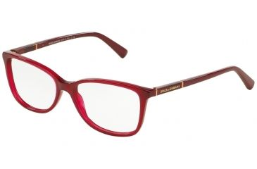 df582a8f273f Dolce&Gabbana LOGO PLAQUE DG3219 Eyeglass Frames 2681-55 - Opal Red Frame