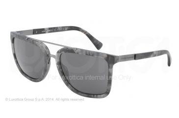 Dolce&Gabbana LOGO PLAQUE DG4219 Sunglasses 280287-57 - Camouflage Matte Grey Frame, Grey Lenses