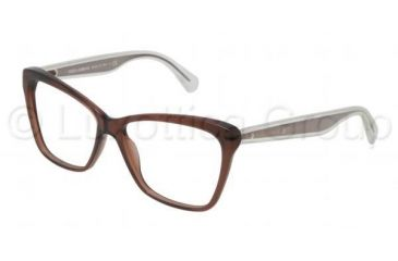 Dolce&Gabbana MAMBO COLLECTION DG3140 Progressive Prescription Eyeglasses 2542-5214 - Transparent Brown Frame