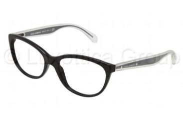 Dolce&Gabbana Mambo collection DG3141 Single Vision Prescription Eyeglasses 501-5316 - Black Frame