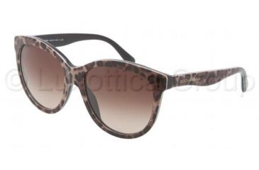 Dolce&Gabbana MATT SILK DG4149 Sunglasses 199513-5817 - Brown Leopard Frame, Brown Gradient Lenses