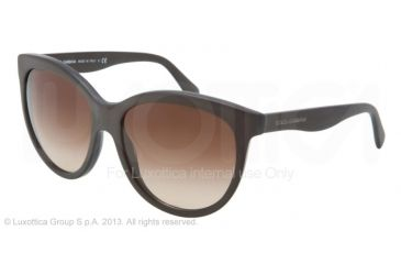 Dolce&Gabbana MATT SILK DG4149 Progressive Prescription Sunglasses DG4149-258213-5817 - Lens Diameter 58 mm, Frame Color Matte Brown