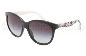 Dolce&Gabbana MATT SILK DG4149 Sunglasses 501/8G-5817 - Black Frame, Gray Gradient Lenses