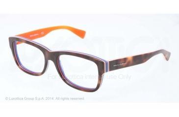 Dolce&Gabbana MULTICOLOR DG3178 Single Vision Prescription Eyeglasses 2765-52 - Havana/multilayer/orange Frame