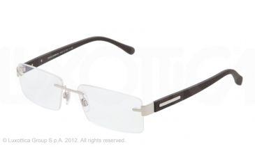 Dolce&Gabbana OVER-MOLDED RUBBER DG1245 Bifocal Prescription Eyeglasses 1210-52 - Silver Frame