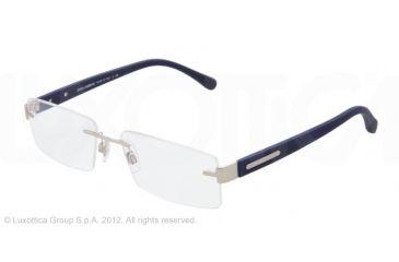 Dolce&Gabbana OVER-MOLDED RUBBER DG1245 Bifocal Prescription Eyeglasses 1211-52 - Matte Silver Frame