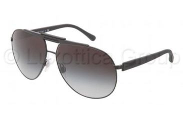 Dolce&Gabbana OVER MOLDED RUBBER DG2119 Sunglasses 11848G-6212 - Matte Black Frame, Gray Gradient Lenses
