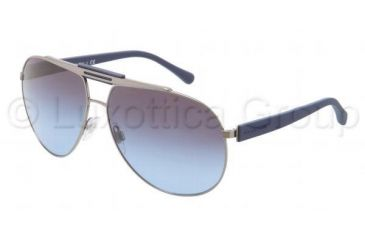 Dolce&Gabbana OVER MOLDED RUBBER DG2119 Sunglasses 11898F-6212 - Gunmetal / Blue Frame, Smoke Gradient Lenses