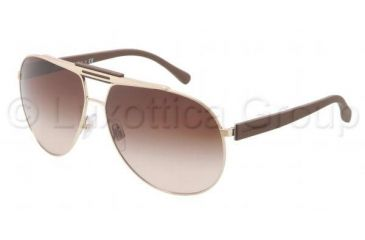 Dolce&Gabbana OVER MOLDED RUBBER DG2119 Sunglasses 119013-6212 - Pale Gold Frame, Brown Gradient Lenses