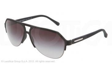 fb985feeece Dolce Gabbana OVER MOLDED RUBBER DG2130 Sunglasses 11798G-60 - Black Frame