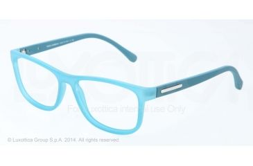Dolce&Gabbana OVER-MOLDED RUBBER DG5003 Single Vision Prescription Eyeglasses 2785-54 - Petroleum Demi Transparent Frame