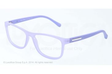 Dolce&Gabbana OVER-MOLDED RUBBER DG5003 Single Vision Prescription Eyeglasses 2786-54 - Lilalc Demi Transparent Frame