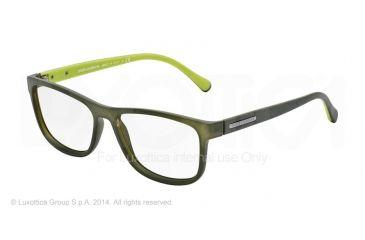 Dolce&Gabbana OVER-MOLDED RUBBER DG5003 Single Vision Prescription Eyeglasses 2811-54 - Green Demi Transp Rubber Frame