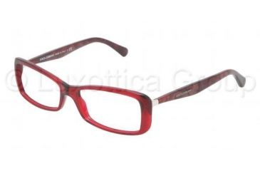 Dolce&Gabbana Sensual&Feminine DG3139 Progressive Prescription Eyeglasses 550-5216 - Transparent / Red Frame, Demo Lens Lenses