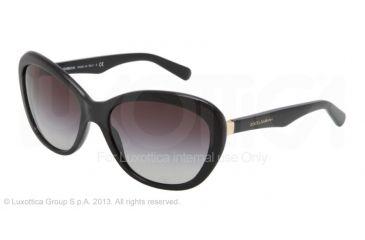 Dolce&Gabbana CORSET DG4150 Single Vision Prescription Sunglasses DG4150-501-8G-5918 - Frame Color Black, Lens Diameter 59 mm