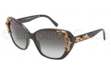 Dolce&Gabbana SICILIAN BAROQUE DG4167 Bifocal Prescription Sunglasses DG4167-501-8G-5917 - Frame Color Black, Lens Diameter 59 mm