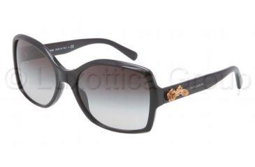 Dolce&Gabbana SICILIAN BAROQUE DG4168 Sunglasses 501/8G-5818 - Black Frame, Grey Gradient Lenses