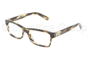 Dolce&Gabbana SICILIAN HINGE DG3129 Progressive Prescription Eyeglasses 2597-5315 - Striped Brown Frame