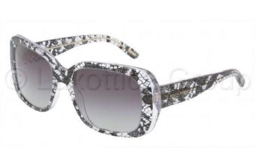 Dolce&Gabbana Prescription Sunglasses DG4101  DG4101-19018G-5419 - Lens Diameter: 54 mm, Frame Color: Black Lace