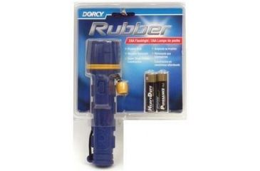 Dorcy 2AA Rubber Flashlight w/ Batteries 41-2956