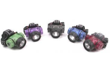 Dorcy 3 Watt - 3AAA LED Headlight w/ Batteries, Silver 41-2098