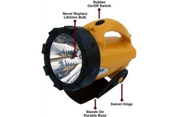Dorcy 3 Watt- 4D 6 Volt 65 Lumens LED Lantern w/ Batteries, Ratcheting Stand 41-4291