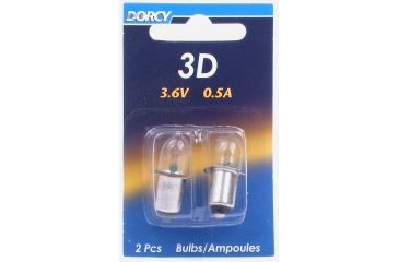 Dorcy 3D 3.6V 0.5A Replacement Bulb, PR3 - 2 Pk, Case of 12, 41-1003-CS