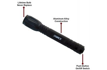 Dorcy 70 Lumens 2AA LED Aluminum Tail Cap Switch Flashlight w/ Batteries 41-4216