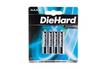Dorcy Diehard Alkaline Batteries 4AAA Batteries Carded 41-1120
