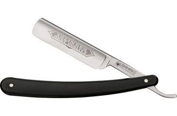 Dovo Straight Razor Black Folding Knife, 3in, Razor Blade, Black Celluloid Handle DOV100581