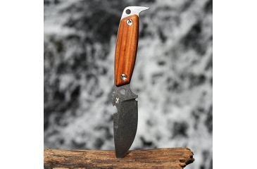 DPx Gear H.E.S.T. II Woodsman, Santo Wood Handle, Leather Sheath DPHSX004