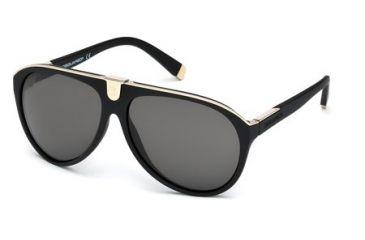 DSquared DQ0069 Sunglasses - Matte Black Frame Color