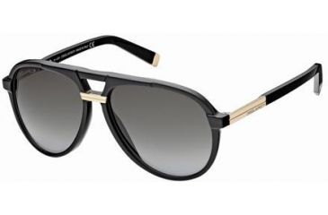 DSquared DQ0070 Sunglasses - Shiny Black Frame Color, Gradient Smoke Lens Color