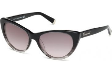 DSquared DQ0079 Sunglasses - Black Frame Color, Gradient Smoke Lens Color