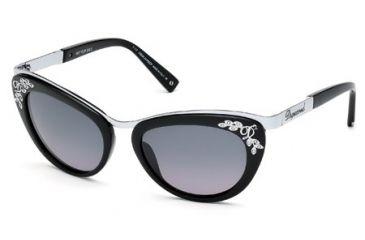 DSquared DQ0096 Sunglasses - Shiny Black Frame Color, Gradient Smoke Lens Color
