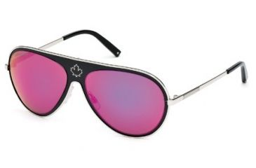 DSquared DQ0104 Sunglasses - Black Frame Color, Gradient / Mirror Violet Lens Color