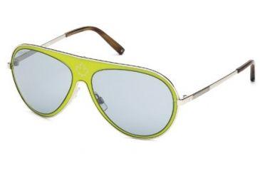 DSquared DQ0104 Sunglasses - Light Green Frame Color, Smoke Mirror Lens Color