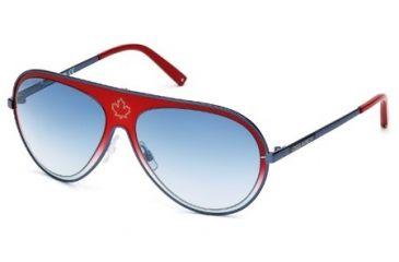 DSquared DQ0104 Sunglasses - Red Frame Color, Gradient Blue Lens Color