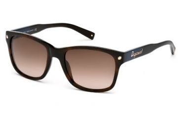 DSquared DQ0105 Sunglasses - Dark Havana Frame Color, Gradient Brown Lens Color