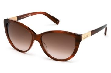 DSquared DQ0112 Sunglasses - Light Brown Frame Color, Gradient Brown Lens Color
