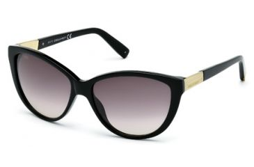 DSquared DQ0112 Sunglasses - Shiny Black Frame Color, Gradient Smoke Lens Color