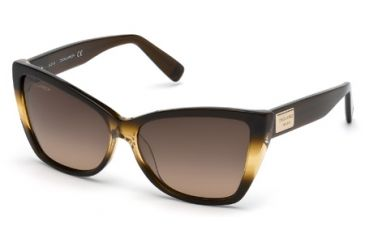 DSquared DQ0129 Sunglasses - Dark Brown Frame Color, Gradient Brown Lens Color