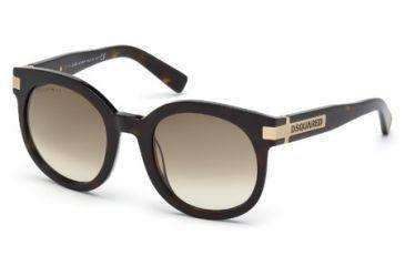 DSquared DQ0134 Sunglasses - Dark Havana Frame Color, Gradient Green Lens Color