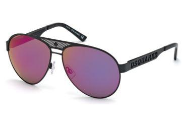 DSquared DQ0138 Sunglasses - Black Frame Color, Gradient / Mirror Violet Lens Color
