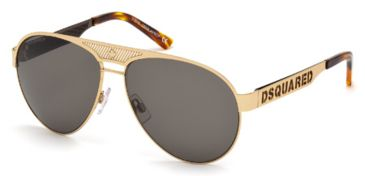 DSquared DQ0138 Sunglasses - Gold Frame Color, Roviex Lens Color