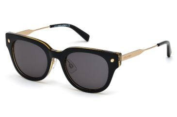 DSquared DQ0140 Sunglasses - Black Frame Color, Green Lens Color